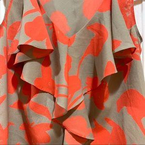 LOFT Tops - Loft Ruffled Floral Tank Top Like New Blouse XS